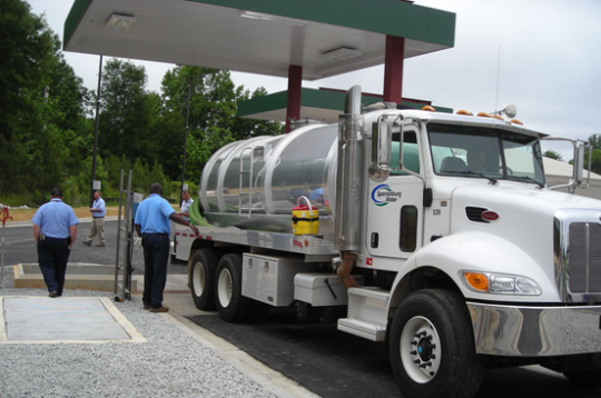 Grease receiving station designed by Cavanaugh for Spartanburg, SC